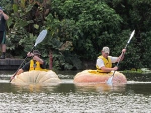Pumpkin Boats Racing