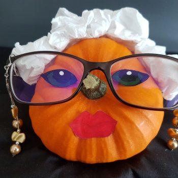 Grandma Pauline Pumpkin Head